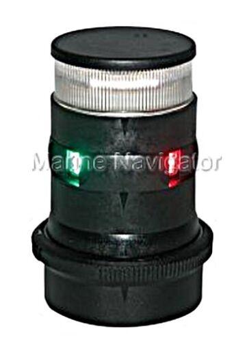 AQUASIGNAL 34 LED Tricolor+Anchor Navigation Light Black 12//24V