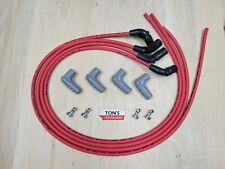 4 Msd 85mm Ls Ls1 Lsx Lt Lt1 Universal 90 Degree Spark Plug Boots Wires Red