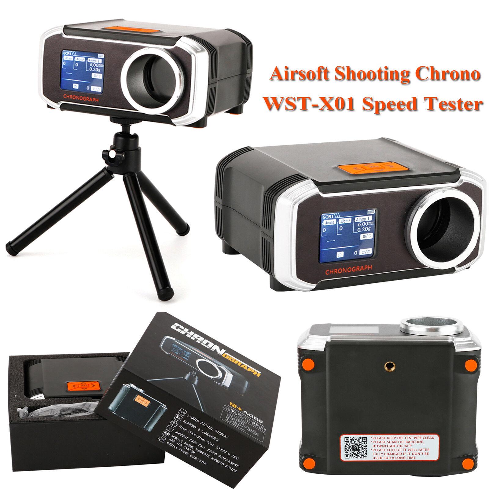 Shooting Chrono Chronograph WST-X01 blueetooth Speed Tester Speedometer & Tripod