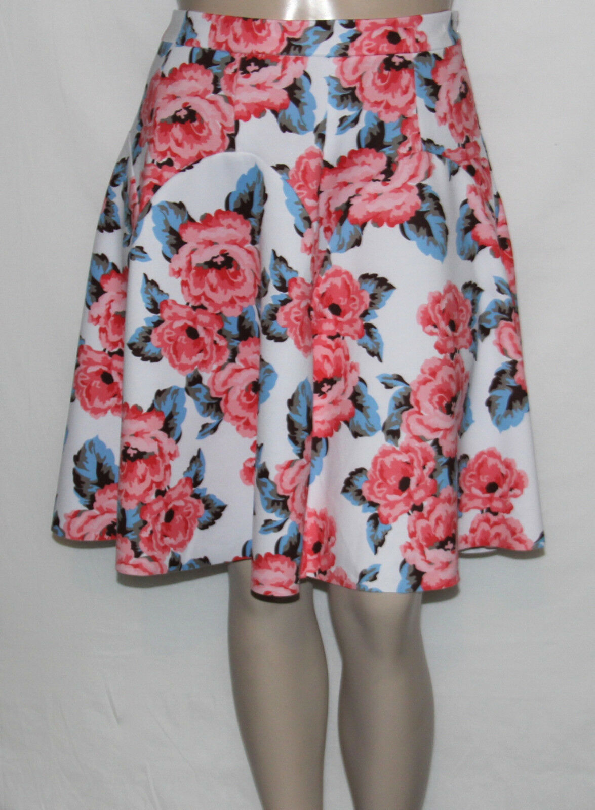 NEW INC International Concepts Plus Size 16W Pleated Floral Print A-Line Skirt