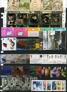 GB GREAT BRITAIN 2004 COMPLETE ALL SETS FOR YEAR U/M/MINT MNH ALL MINI SHEETS