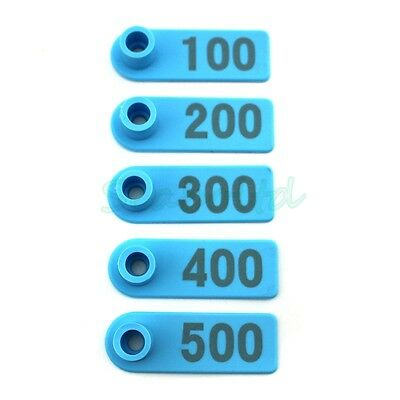 400PCS Small Pre Numbered Livestock Ear Tag Tagging for Pig Goat Sheep