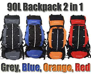 adc503c8256c Image is loading Camping-Backpack-90L-15L-Large-Rucksack-Bag-Luggage-