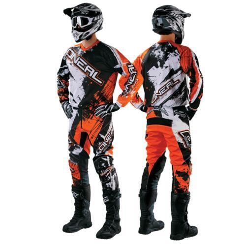 Oneal elemento Shocker Orange combo MX DH moto cross pantalones Jersey moto enduro