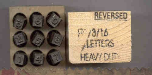 """Young Brothers Steel Hand Stamps Reversed Heavy Duty 3//16/"""" Figures steel stamps"""