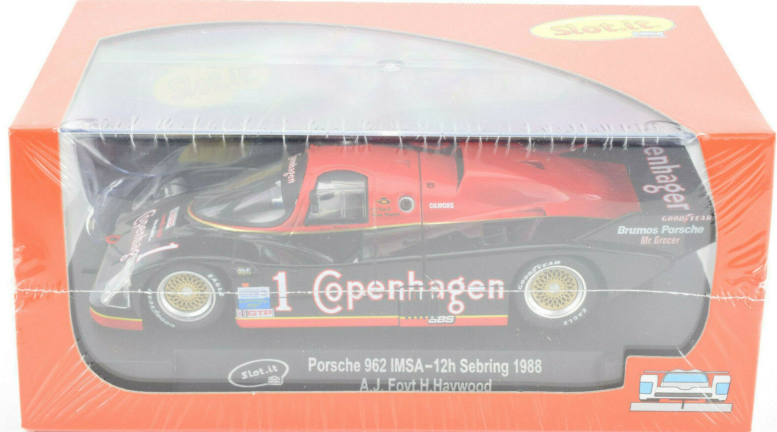 Slot It  Copenhagen  Porsche 962 IMSA 1988 12h Sebring 1 32 Scale slot Car CA25F