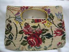 Vintage 1960's Floral Carpet Handbag- Great Condition