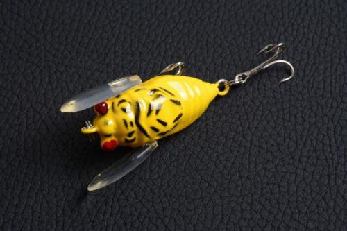 1pcs Cicada 4cm//6.5g Fishing tackle 8# Hook peche Lure Wobbler baits bass NEW