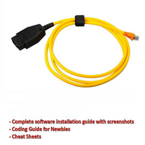 Details about fits BMW ENET Cable Ethernet OBD2 Interface Diagnostic &  Coding