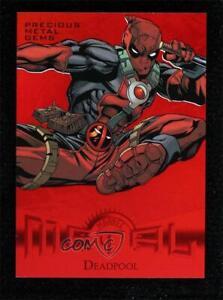 2013 Fleer Marvel Retro Red Precious Metal Gems 24/100 Deadpool #27