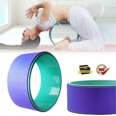 yoga wheel exercise fitness pilates ring stretch roller