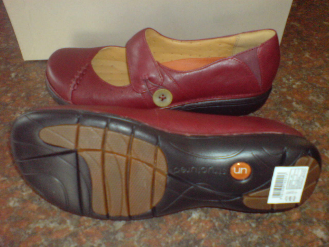Clarks Damenschuhe UNSTRUCTUROT  UN LYNSEY  BORDEAUX LEATHER UK , ADJUSTABLE  UK LEATHER 5 d19cb7