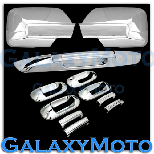07-12 Ford Expedition Chrome Mirror+4 Door Handle+Lower Tailgate Liftgate Cover