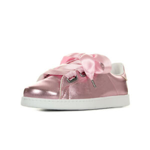 Chaussures-Baskets-Victoria-femme-Deportivo-Metalizado-Lazo-taille-Rose
