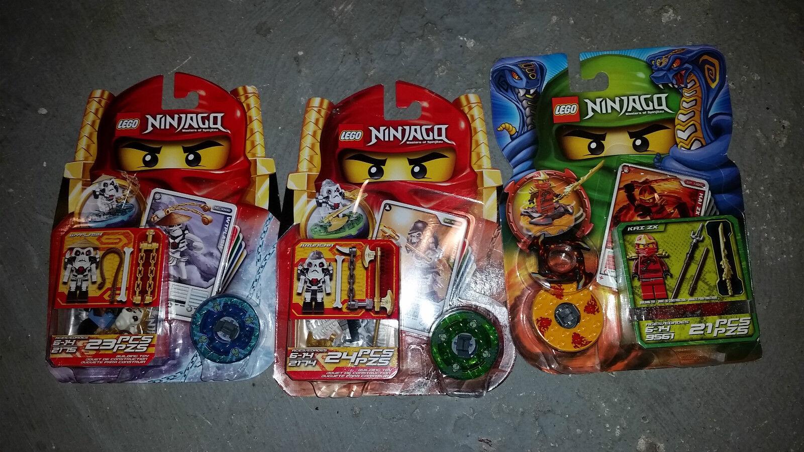 Lego NINJAGO Lot Wyplash Kai Kcorrerecha SPINJAGO Minicifra DRAGON  9561 2174 2175  Negozio 2018