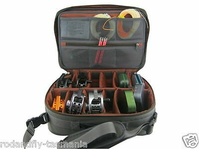 Fly Reel Case ,Bag  Hi-End  Mega Combo Platinum Holds 12 Reels ++
