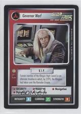 2000 Foil Expansion Set #NoN Governor Worf Governer Gaming Card 3v3