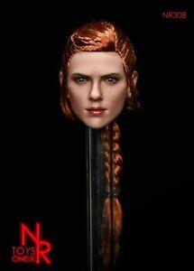 NRTOYS-1-6-NR30B-Black-Widow-Scarlett-Planted-Hair-Head-Carved-Fit-12-039-039-Doll