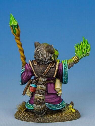Miniature Animal Wizard Sorcerer 1 Dark Sword DSM-8048 Raccoon Mage with Staff