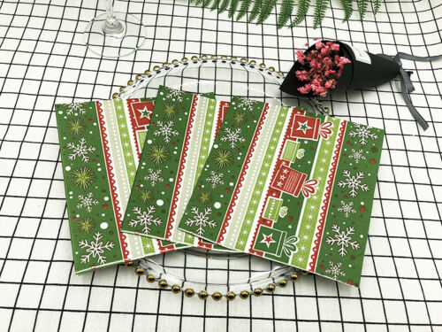20x Christmas Colour Printing Napkin Paper Tissue Paper Festival Party Tableware