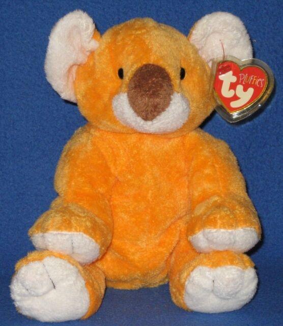 Retired 2003 Ty Pluffies 9 in Pookie Orange Koala Bear Plush Tylux Baby Toy 72e20049c46