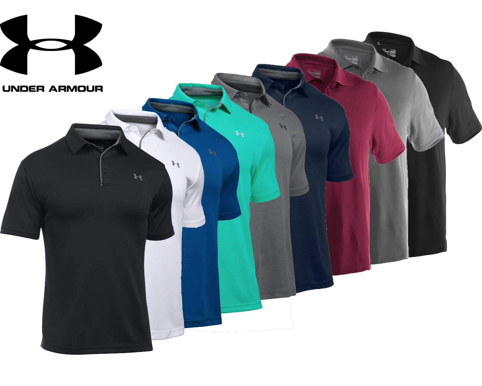 Herren Under Armour Polo Shirt Team Performance Polo New Authentic