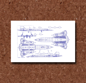SR-71 Blackbird Blueprint Plan BP098