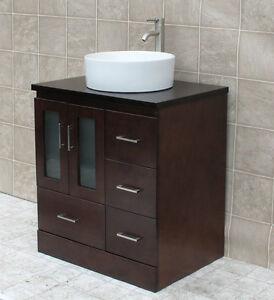 "30"" Bathroom Vanity 30-inch Cabinet Wood Top With Ceramic ..."