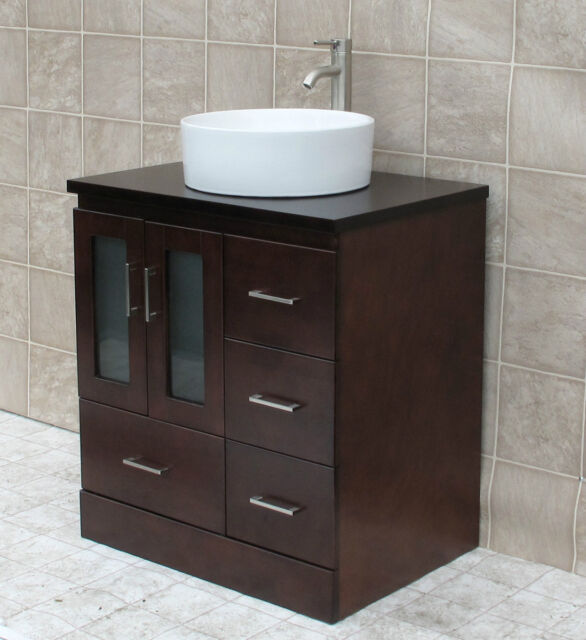 Enjoyable 30 Bathroom Vanity 30 Inch Cabinet Wood Top With Ceramic Sink Sink Faucet Mo Download Free Architecture Designs Grimeyleaguecom
