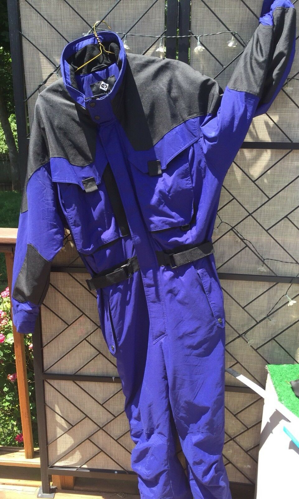 Vtg 80s 90s  Men's One Piece Ski Suit Inside Edge bluee Snow Winter Snowsuit L  buy brand