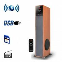Befree Soundbluetoothpowered Floor Standing Tower Speakerwith Usb/sd,fm Radio