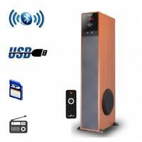 Befree Soundbluetoothpowered Floor Standing Tower Speakerwith Usb/sd,fm Radio