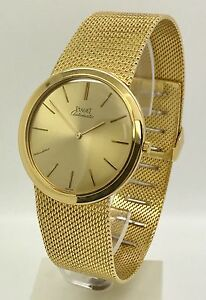 Vintage Piaget Ultra Thin Automatic 18k Yellow Gold 90 3