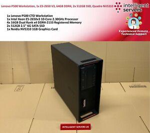 Lenovo-ThinkStation-P500-1x-E5-2650v3-64GB-DDR4-2x-512GB-SSD-Quadro-NVS310