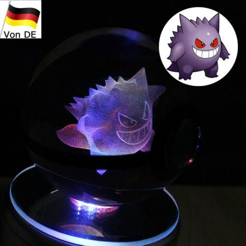 Pokemon Gengar 3D LED Kristall Tischlampe Nachttischlampe Express-Transport