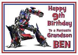 S2 Personalised Transformers Bumblebee Birthday Greetings Card A5 Your Name