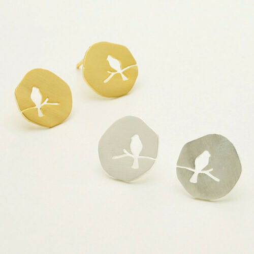 Creative Hollow Animal Bird on A Branch Stud Earrings for Female Party Jewelry