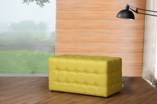 Siedzisko sześcianu stołek podnóżek meble biurowe skórzane Rossi Meble