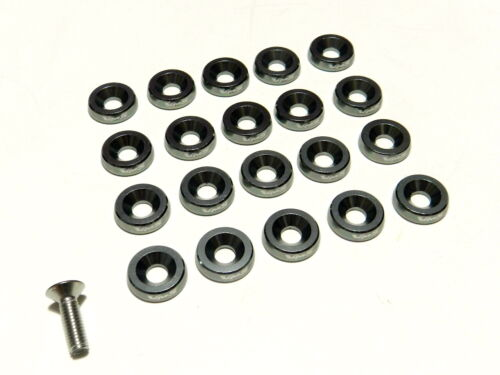 20PC GUNMETAL ENGINE DRESS UP 10MM WASHERS AND BOLTS KIT