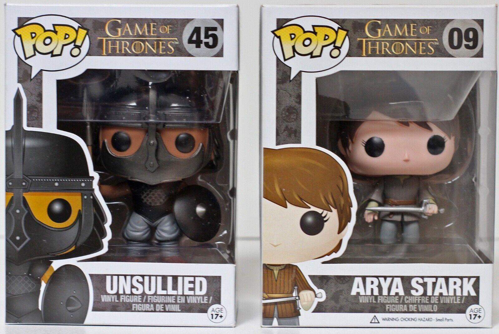 Voûtée Pop Funko Game of Thrones immaculés  45 & Arya Stark  09 - voir détails