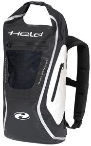Held-ZAINO-Sac-a-dos-de-moto-20-jusqu-039-a-30-L-impermeable-noir-blanc
