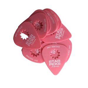 everly star guitar picks 12 pack 73mm super grip pink 696554487413 ebay. Black Bedroom Furniture Sets. Home Design Ideas