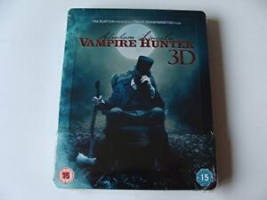ABRAHAM-LINCOLN-VAMPIRE-HUNTER-BD3D-STEELBOOK-EXCL-Blu-ray-DVD-Region-2