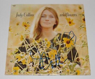 Folk Singer Judy Collins Signed Wildflowers Vinyl Record Lp W/coa Records