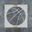 Reusable Stencils of a Basketball in Multiple Sizes Basketball Stencil