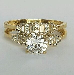 Image Is Loading 1 35 C 14k Yellow Gold 2 Piece