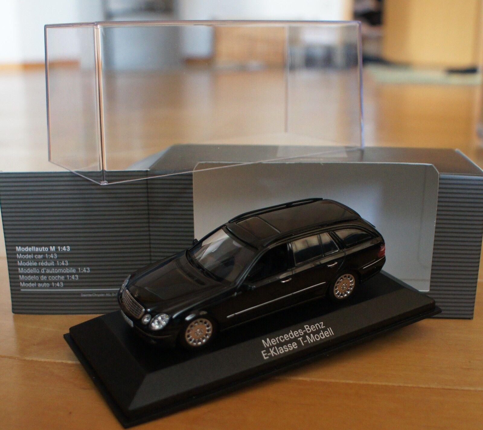 1 43 mercedes e class w211 T Model nero Minichamps nero clase modelo Benz