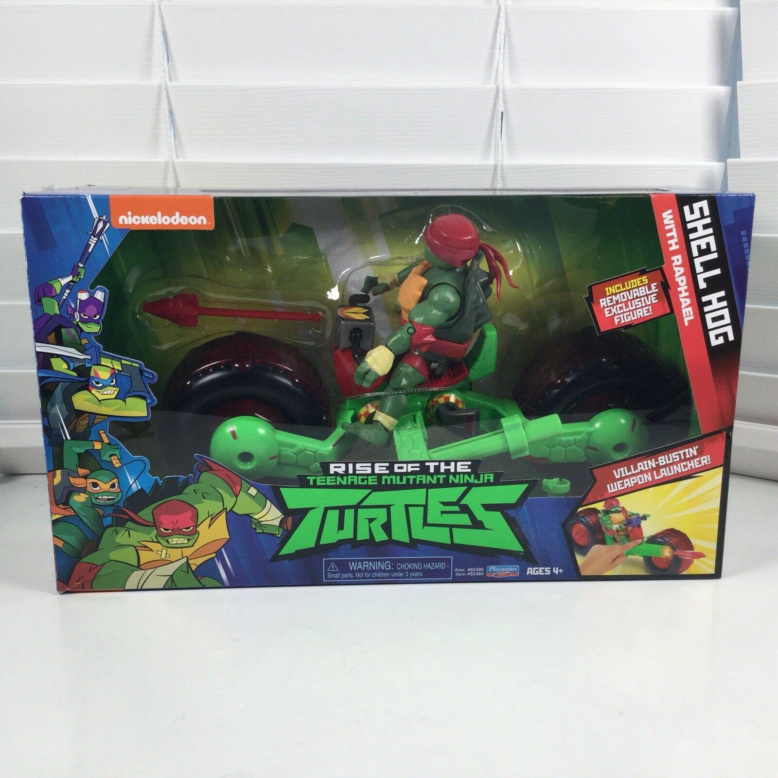 Playmates Rise of Teenage Mutant Ninja Turtles Shell Hog Vehicle Raphael Figure