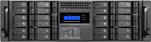 "Rackmount Chassis 24/"" Rail Set EATX Case 3U 6x5.25/""+4xHDDs Fan LCD NEW"