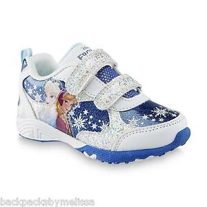 Disney FROZEN Shoes Girl s size 11 NeW Blue White SPARKLY Sneakers ... 29decf7df